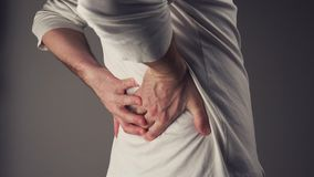 Severe back pain stock footage
