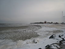 Severe Baltic Sea in January Stock Photography