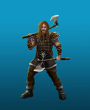 A severe barbarian viking Stock Images
