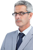 Severe businessman wearing glasses Royalty Free Stock Photography