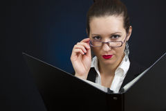 Severe businesswoman Royalty Free Stock Image