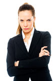 Severe businesswoman with arms crossed Stock Photography