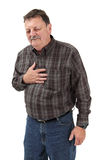 Severe chest pain Royalty Free Stock Image