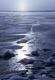 Froze the water in Siberian river. From the severe cold froze the water in Siberian river stock images