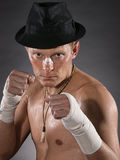 Severe fighter Royalty Free Stock Images