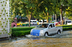 Severe flood in Bangkok, Thailand Royalty Free Stock Images