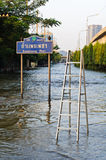 Severe flood in Bangkok, Thailand Stock Images