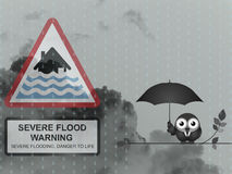 Severe flood warning Royalty Free Stock Image
