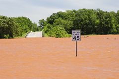 Severe Flooding in Oklahoma stock photography