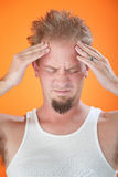 Severe Headache Stock Photo