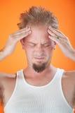 Severe Headache Stock Photo