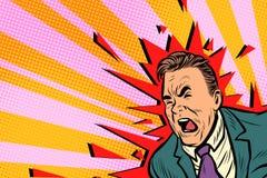 Severe headache male. Pop art retro vector illustration Stock Image