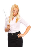 Severe lady teacher Royalty Free Stock Photography
