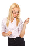Severe lady teacher Royalty Free Stock Images