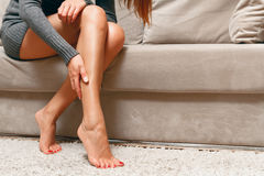 Severe leg pain concept Royalty Free Stock Images