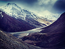 Severe mountains - View of Himalayas, India Stock Photography