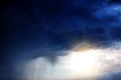 Severe Rain Background Stock Photo