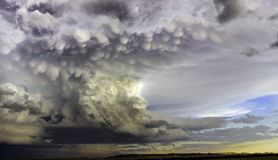 Severe Storm. Beautiful structure on a storm in Ridgeway Montana 10 Aug 2016 Stock Images