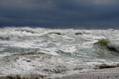 Severe storm at sea Royalty Free Stock Images