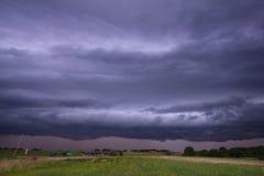 Severe Thunderstorm near McPherson, Kansas royalty free stock images