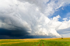 Severe weather incoming in the plains Stock Photos