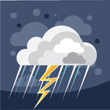 Severe Weather Storm Icon Royalty Free Stock Photography
