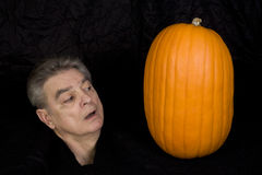 Severed Head and Pumpkin Royalty Free Stock Photo