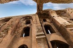 Severian Arcades op Palatine - Roman Forum Rome Italy stock fotografie