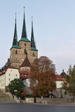 Severikirche em Erfurt, Alemanha Fotos de Stock Royalty Free