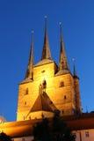 Severikirche in Erfurt, Duitsland Stock Afbeelding