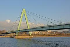 Severin bridge over river Rhine in cologne Stock Photo