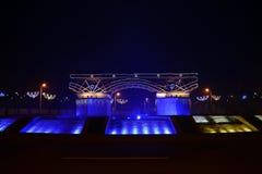 Severin city traian bridge Stock Images
