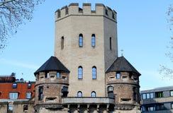 Severinstorburg medieval da torre na água de Colônia Imagem de Stock Royalty Free