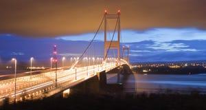 Severn Bridge. The old Severn bridge by night Royalty Free Stock Images