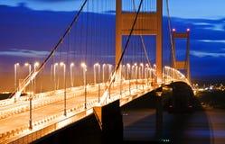 Severn Bridge. The old Severn Bridge by night Royalty Free Stock Image