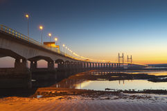 Severn Bridge, Großbritannien Stockfotografie