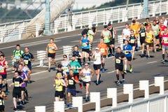 Severn Bridge Half Marathon, Gloucestershire, UK. Severn Bridge Half Marathon, South Gloucestershire UK. 27 August 2017. UK weather: About 2500 runners take part Stock Image