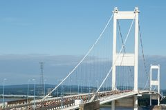 Severn Bridge Half Marathon, Gloucestershire, UK. Severn Bridge Half Marathon, South Gloucestershire UK. 27 August 2017. UK weather: About 2500 runners take part Royalty Free Stock Image