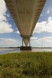 Severn Bridge, pont suspendu reliant le Pays de Galles à Engla Image stock