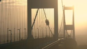 Severn Bridge sobre o rio Severn Estuary filme