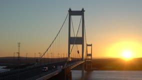 Severn Bridge sobre o rio Severn Estuary vídeos de arquivo