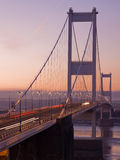 Severn Bridge at Twilight Royalty Free Stock Photos