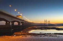Severn Bridge UK Arkivbild