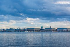 The Severn River and United States Naval Academy in Annapolis, Maryland.  royalty free stock images