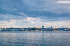 The Severn River and United States Naval Academy in Annapolis, Maryland.  stock photos