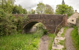 Severn - Thames Canal, Bourne Lock Bridge, Brimscombe. Stroud, The Cotswolds, United Kingdom royalty free stock images