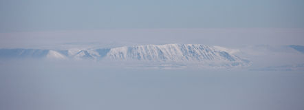 Severnaya Zemlya (Northern Land) aerial view Stock Photo