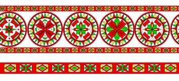 Severodvinsk地区的俄国传统装饰品 免版税库存图片