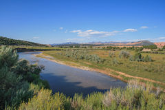 Sevier River and Landscape in Utah, USA. Sevier River and landscape in Utah around Hatch along Highway 89 royalty free stock photography