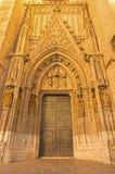 Sevilel -门普埃尔塔从15的de Bautismo 由N的分 马丁内斯和J 大教堂de圣玛丽亚de la的塞德诺曼底人 库存图片
